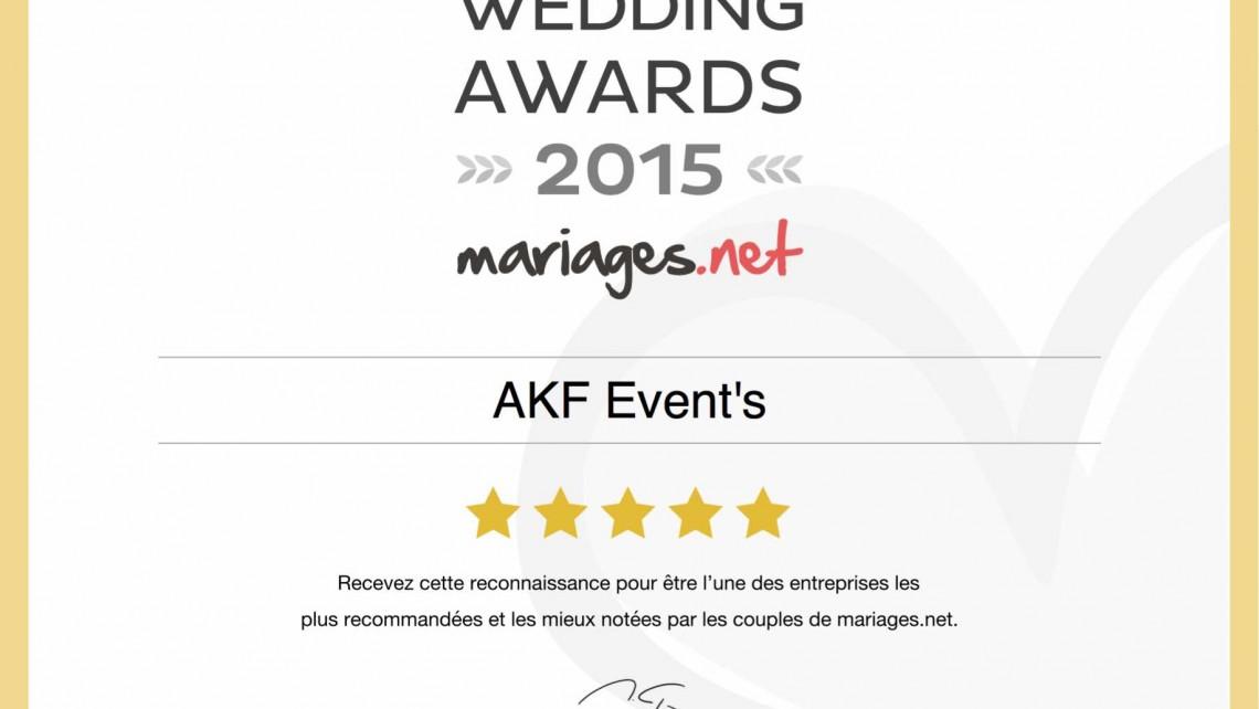 Mariage Wedding Awards 2015